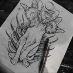 Эскиз тату Сфинкс 20.08.2019 №012 - sphinx tattoo sketch - tatufoto.com
