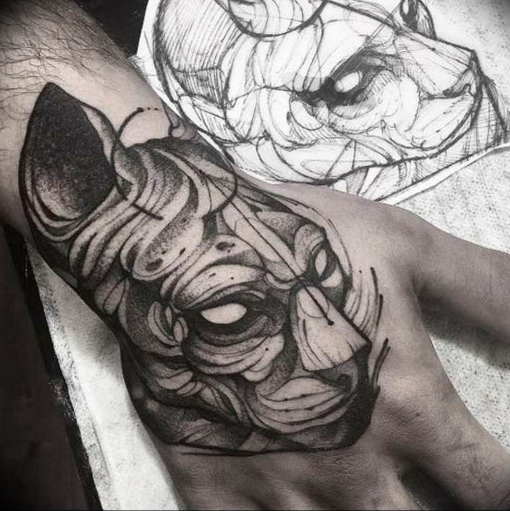 Эскиз тату Сфинкс 20.08.2019 №114 - sphinx tattoo sketch - tatufoto.com