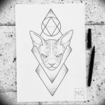 Эскиз тату Сфинкс 20.08.2019 №121 - sphinx tattoo sketch - tatufoto.com