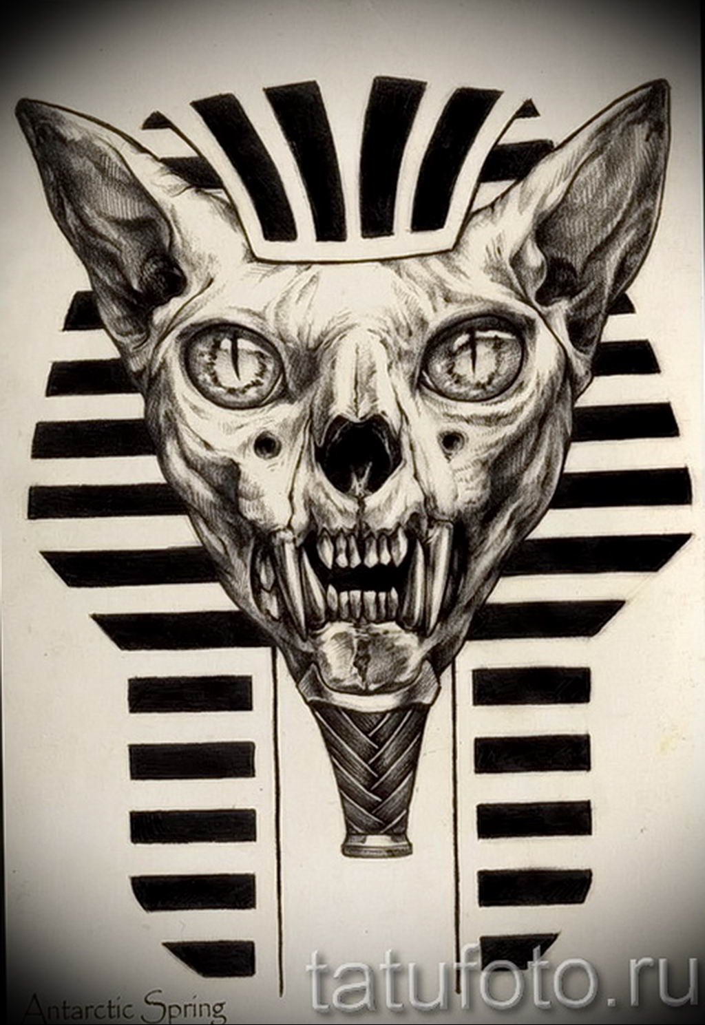 Эскиз тату Сфинкс 20.08.2019 №122 - sphinx tattoo sketch - tatufoto.com