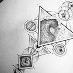 маленькие тату геометрия эскизы 14.08.2019 №005 - sketches small tattoo - tatufoto.com