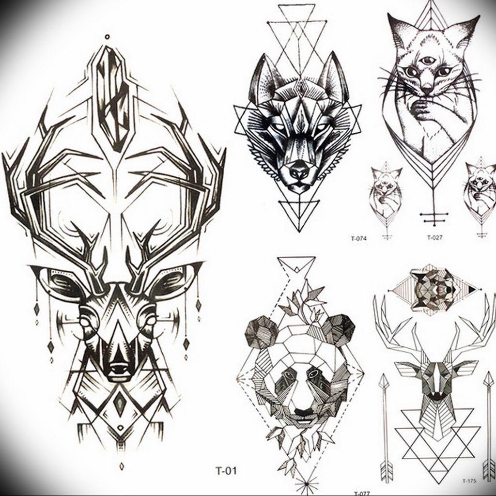 маленькие тату геометрия эскизы 14.08.2019 №013 - sketches small tattoo - tatufoto.com