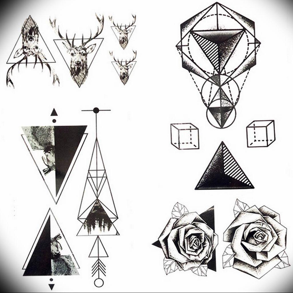 маленькие тату геометрия эскизы 14.08.2019 №017 - sketches small tattoo - tatufoto.com