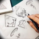 маленькие тату для девушек эскизы 14.08.2019 №016 - sketches small tattoo - tatufoto.com