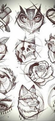 маленькие тату эскизы 14.08.2019 №025 – sketches small tattoo – tatufoto.com