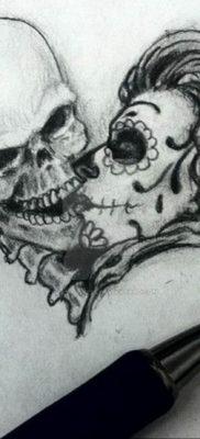 маленький череп тату эскиз 14.08.2019 №026 – sketches small tattoo – tatufoto.com