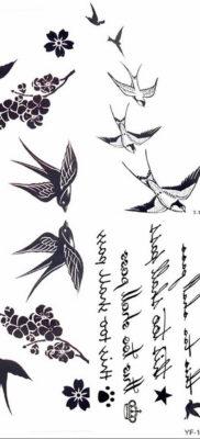 тату ласточка маленькая эскиз 14.08.2019 №015 – sketches small tattoo – tatufoto.com
