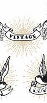 тату ласточка маленькая эскиз 14.08.2019 №017 – sketches small tattoo – tatufoto.com