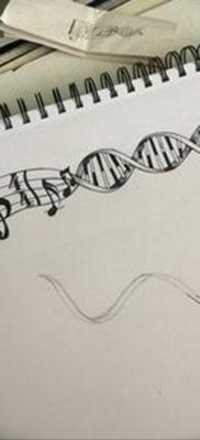 тату музыка эскизы маленькие 14.08.2019 №005 – sketches small tattoo – tatufoto.com
