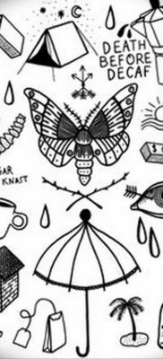 тату эскизы маленькие черные 14.08.2019 №031 – sketches small tattoo – tatufoto.com