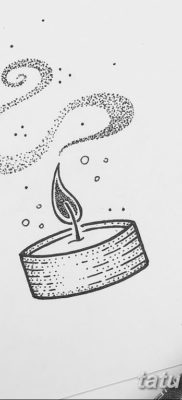 эскиз тату свеча 12.08.2019 №008 – sketch tattoo candle – tatufoto.com
