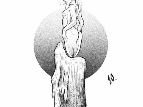 эскиз тату свеча 12.08.2019 №041 - sketch tattoo candle - tatufoto.com