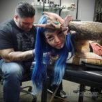 Амбер Люке и реакция соцсетей на ее новую татуировку нанесённую на щеке - фото 13
