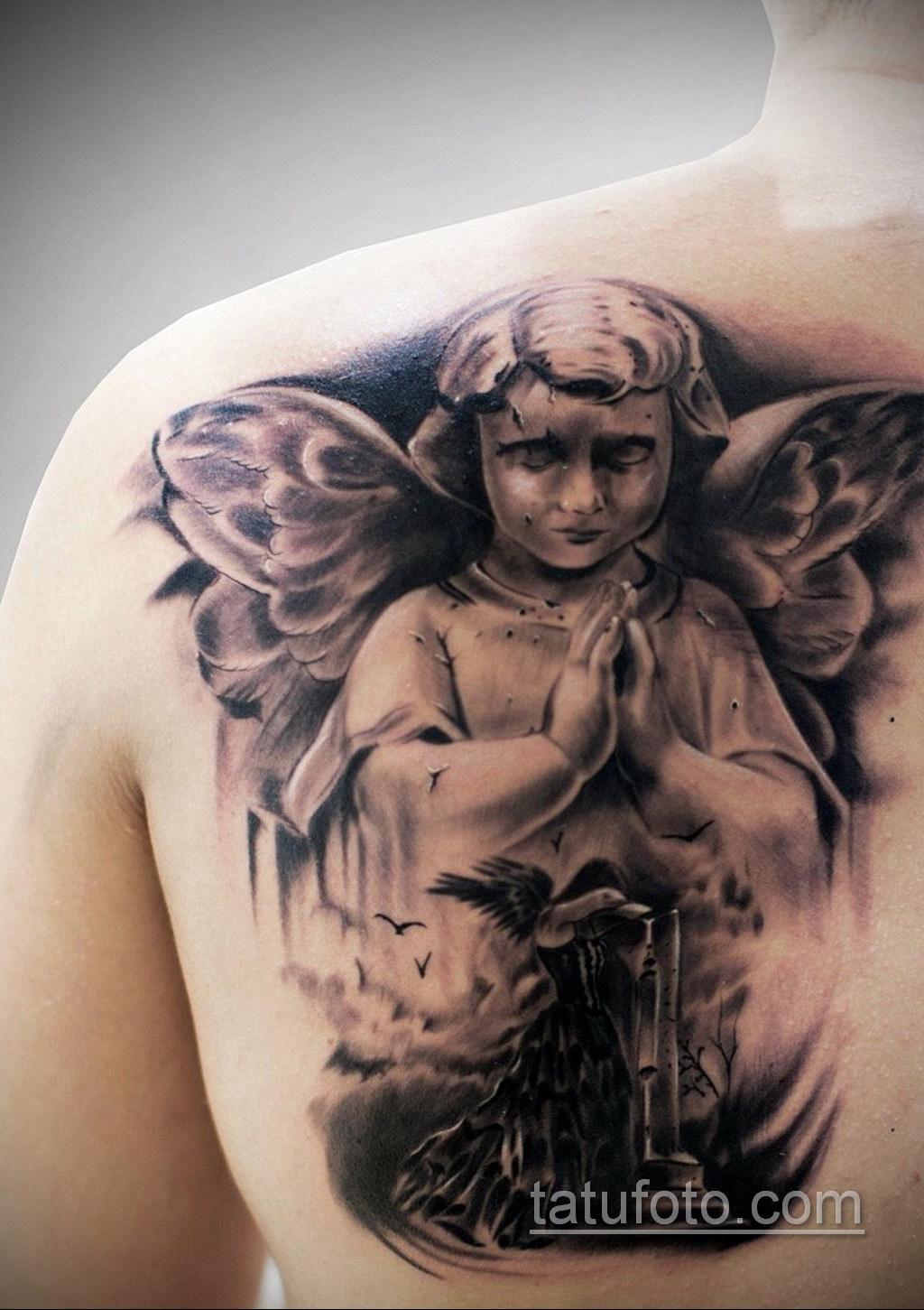 фото тату ангела на лопатке мужские результат близок шарлоткам