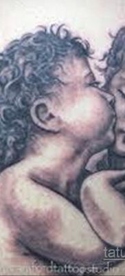 Тату ангел херувим 26.09.2019 №041 -cherub tattoo- tatufoto.com
