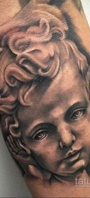Тату ангел херувим 26.09.2019 №053 -cherub tattoo- tatufoto.com