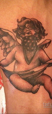 Тату ангел херувим 26.09.2019 №054 -cherub tattoo- tatufoto.com