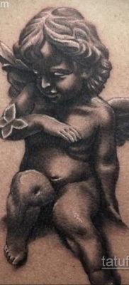 Тату ангел херувим 26.09.2019 №067 -cherub tattoo- tatufoto.com