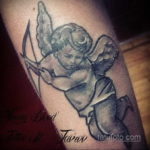 Тату ангел херувим 26.09.2019 №076 -cherub tattoo- tatufoto.com