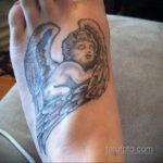 Тату ангел херувим 26.09.2019 №077 -cherub tattoo- tatufoto.com