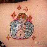 Тату маленький херувим для девушки 26.09.2019 №011 -cherub tattoo- tatufoto.com