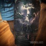 Фото тату молния реализм 14.09.2019 №023 - tattoo lightning realism - tatufoto.com