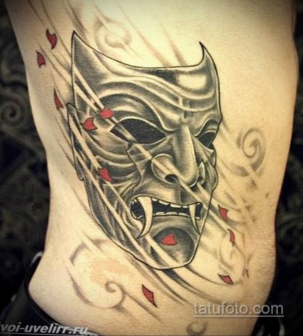 Фото тату театральные маски 09.09.2019 №053 - tattoo theater masks - tatufoto.com