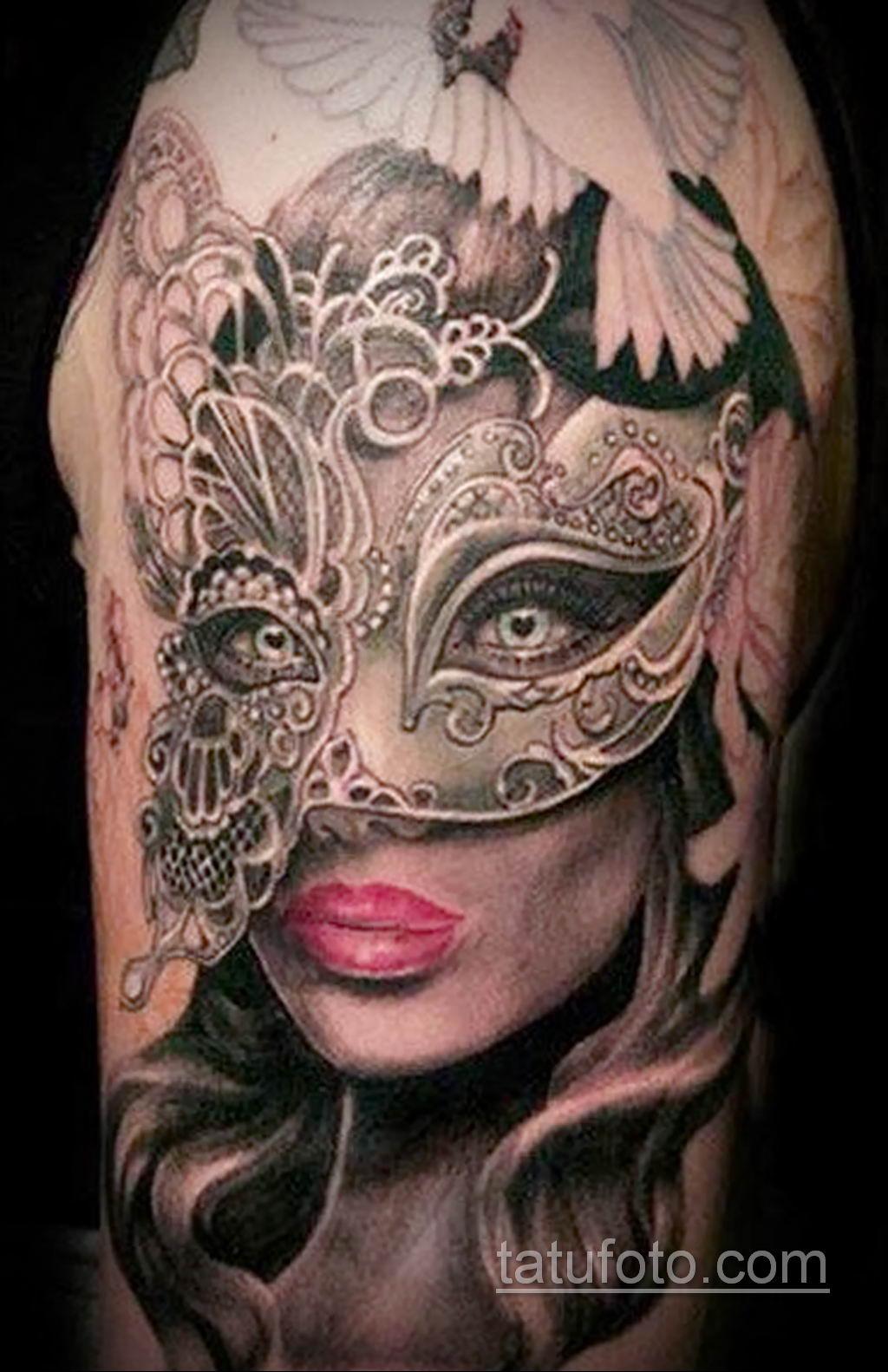 Фото тату театральные маски 09.09.2019 №059 - tattoo theater masks - tatufoto.com