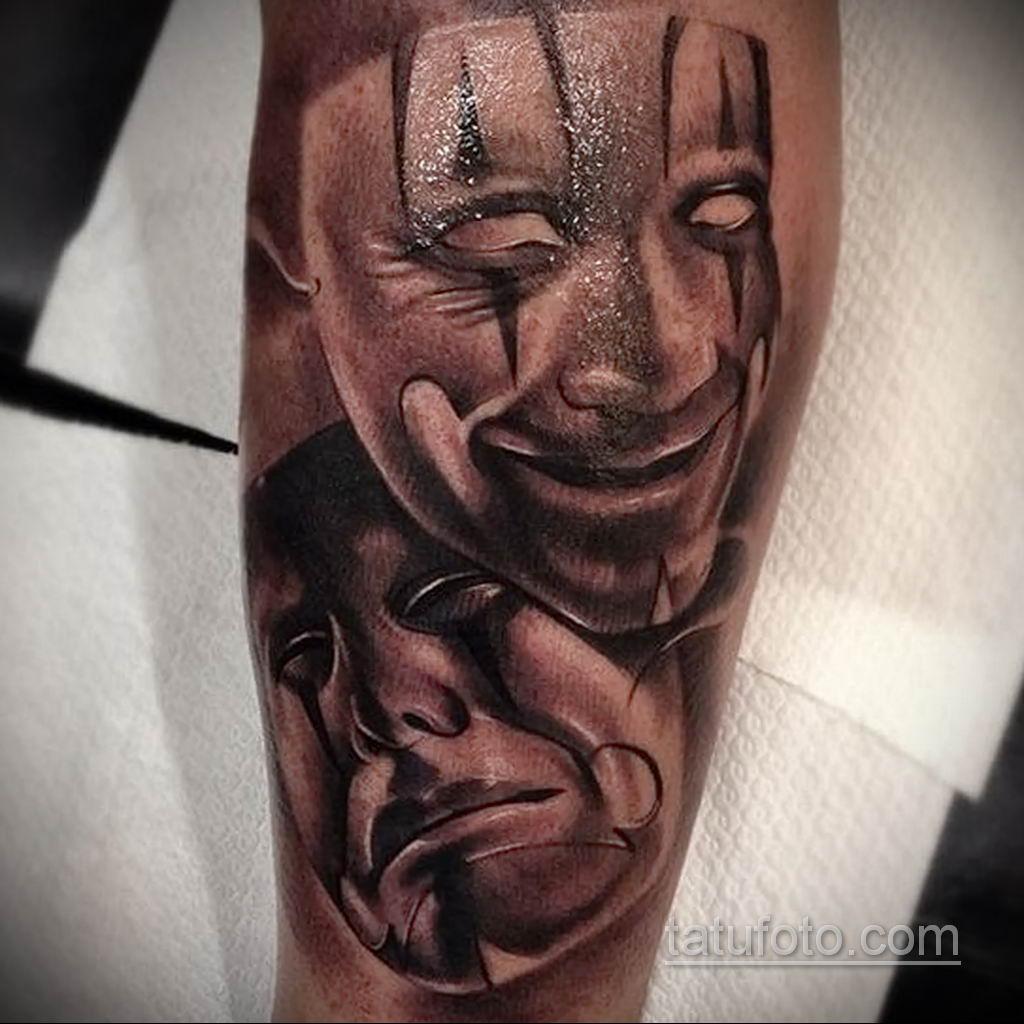 Фото тату театральные маски 09.09.2019 №063 - tattoo theater masks - tatufoto.com