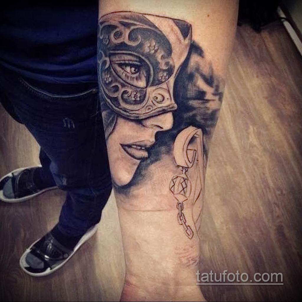 Фото тату театральные маски 09.09.2019 №073 - tattoo theater masks - tatufoto.com