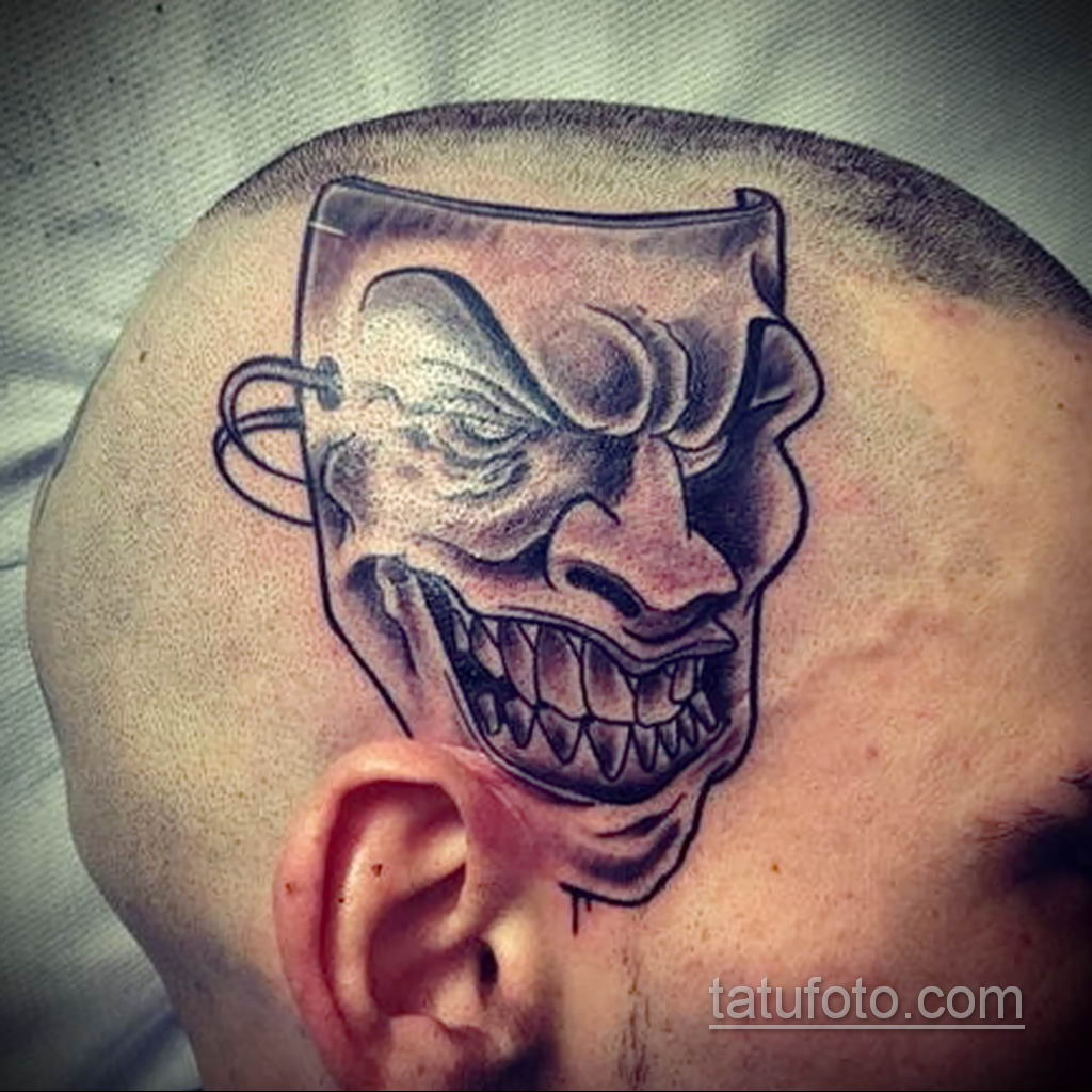 Фото тату театральные маски 09.09.2019 №089 - tattoo theater masks - tatufoto.com