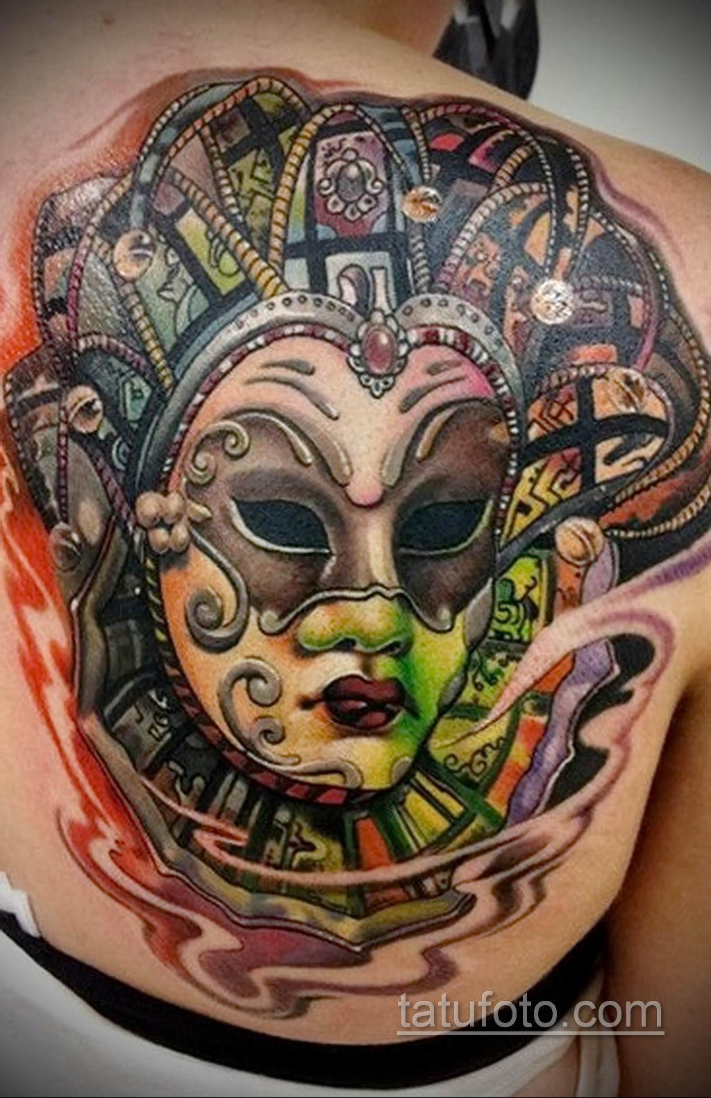 Фото тату театральные маски 09.09.2019 №096 - tattoo theater masks - tatufoto.com