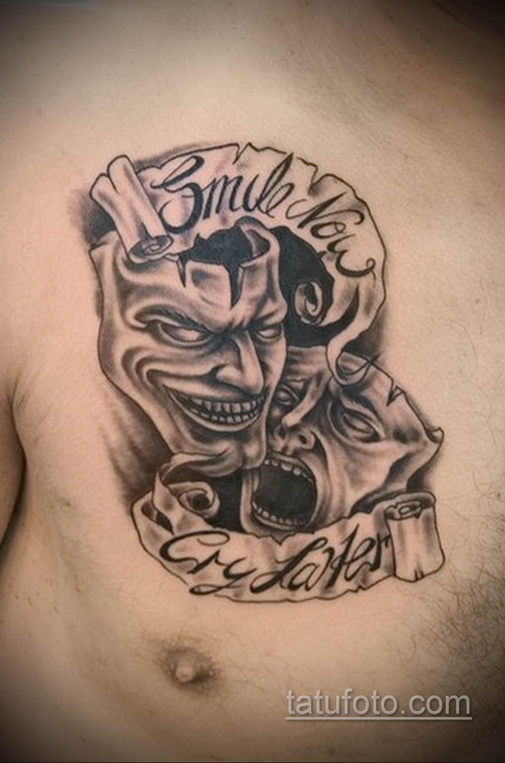 Фото тату театральные маски 09.09.2019 №101 - tattoo theater masks - tatufoto.com