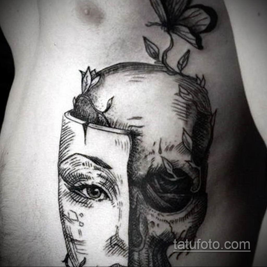 Фото тату театральные маски 09.09.2019 №104 - tattoo theater masks - tatufoto.com