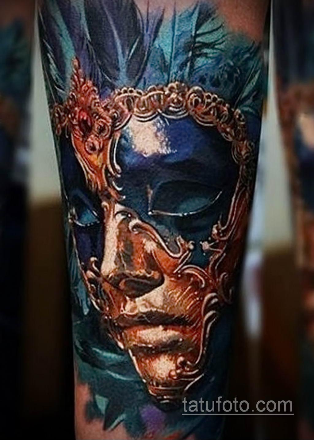 Фото тату театральные маски 09.09.2019 №117 - tattoo theater masks - tatufoto.com