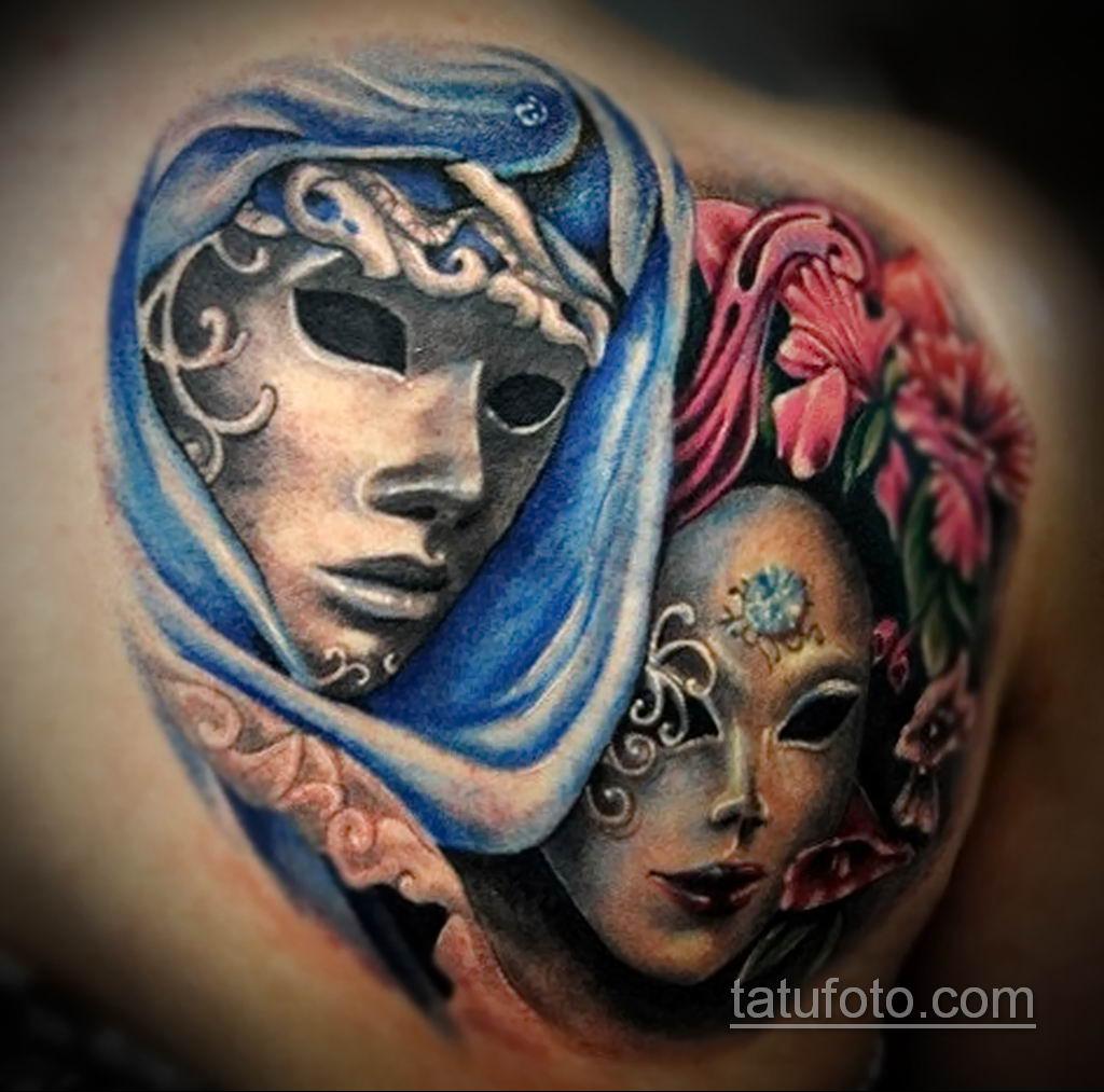 Фото тату театральные маски 09.09.2019 №118 - tattoo theater masks - tatufoto.com