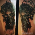 Фото черная молния тату 14.09.2019 №006 - black lightning tattoo - tatufoto.com