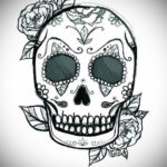 маленький череп тату эскиз 17.09.2019 №005 - small skull tattoo sketch - tatufoto.com
