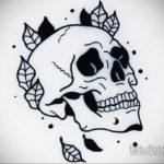 маленький череп тату эскиз 17.09.2019 №009 - small skull tattoo sketch - tatufoto.com
