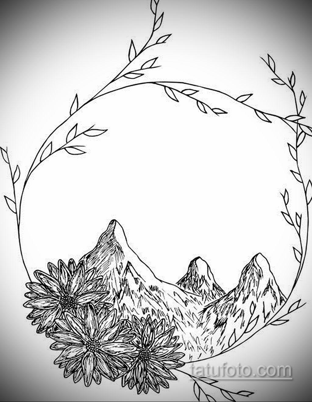 пример эскиза простой тату для девушки 15.09.2019 №016 - sketch for simpl - tatufoto.com