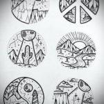 пример эскиза простой тату 15.09.2019 №006 - sketch for simple tattoos - tatufoto.com