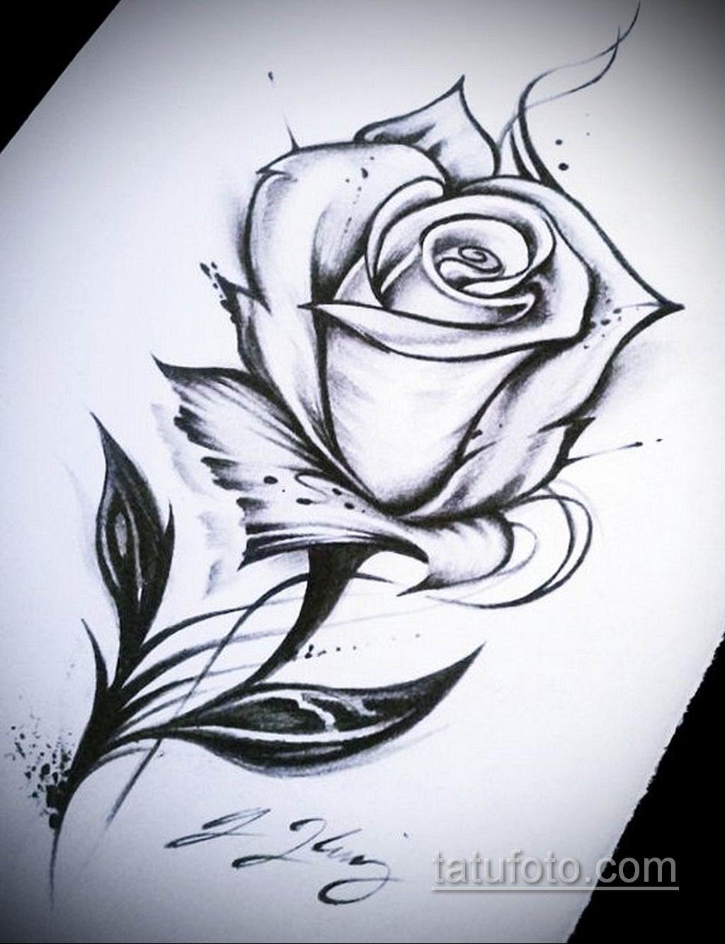 пример эскиза простой тату 15.09.2019 №026 - sketch for simple tattoos - tatufoto.com