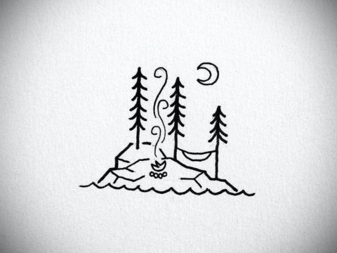 пример эскиза простой тату 15.09.2019 №027 - sketch for simple tattoos - tatufoto.com