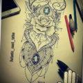 рукава тату женские эскизы 14.09.2019 №001 - sleeves tattoo female sketche - tatufoto.com