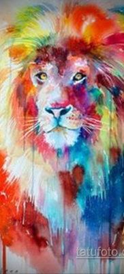 тату лев цветной эскизы 16.09.2019 №002 – lion tattoo color sketches – tatufoto.com