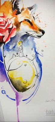 тату лиса эскизы цветные 16.09.2019 №009 – fox tattoo sketches colored – tatufoto.com