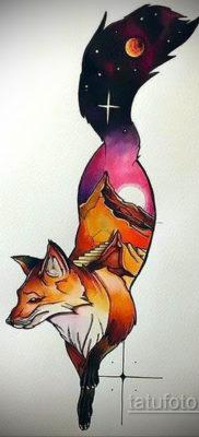 тату лиса эскизы цветные 16.09.2019 №012 – fox tattoo sketches colored – tatufoto.com