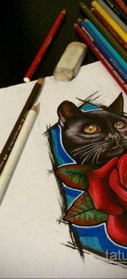 тату роза эскиз цветной 16.09.2019 №008 – tattoo rose sketch colored – tatufoto.com