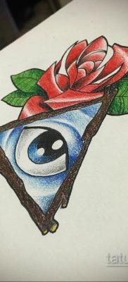 тату роза эскиз цветной 16.09.2019 №009 – tattoo rose sketch colored – tatufoto.com