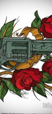 тату роза эскиз цветной 16.09.2019 №011 – tattoo rose sketch colored – tatufoto.com